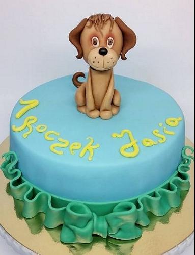 tort dla dziecka piesek